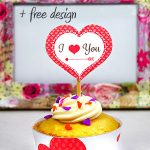 valentine cupcake toppers and wrappers