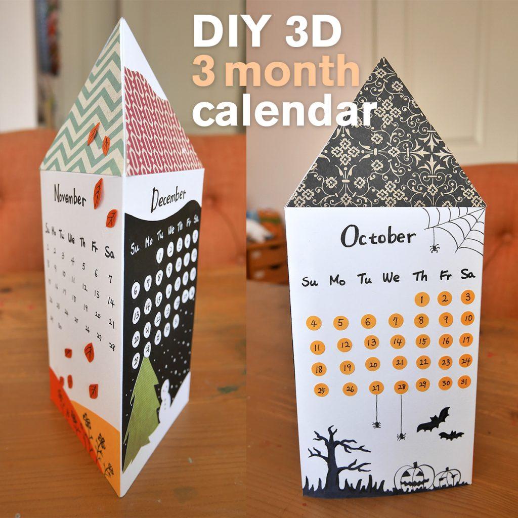 3d 3 month calendar